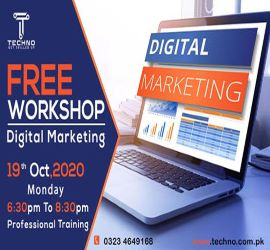 Digital Media Marketing – Free One Day Workshop | Techno | 19th Oct, 2020