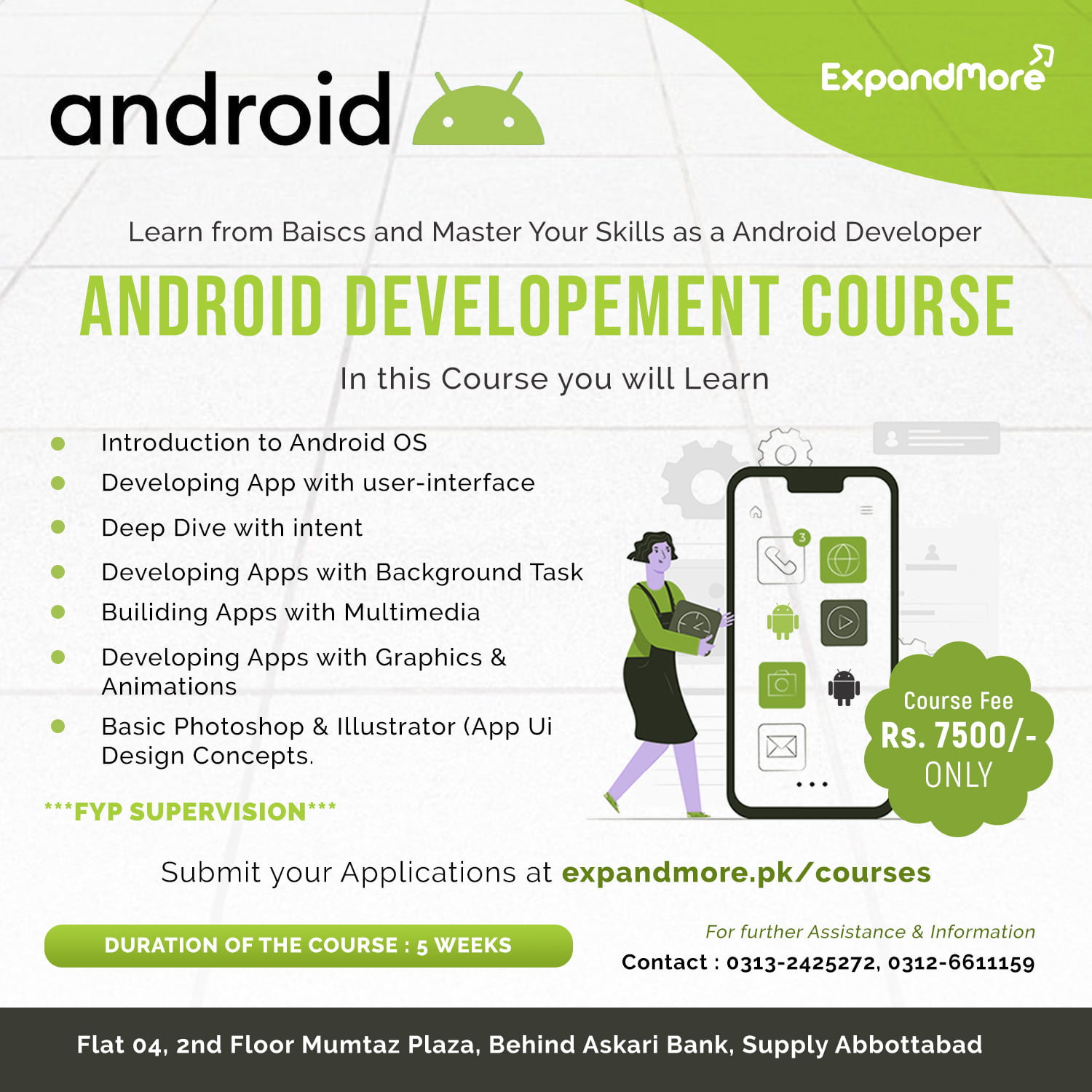 Android Development Course | Expand More