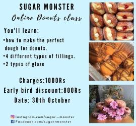 Online Donuts Class | Sugar Monster | 30 Oct, 2020