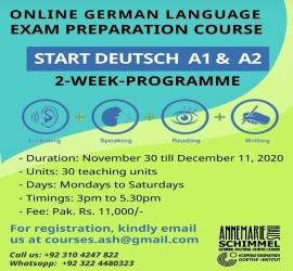 German Language Exam Preparation | Annemarie Schimmel Haus | 30 Nov, 2020