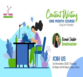 Content Writing (Females Only) | PNY | 1 Dec, 2020