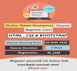 Website Development Course | Fopik | 20 Nov, 2020