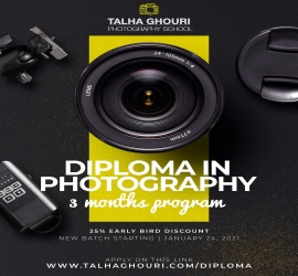 DIPLOMA IN PHOTOGRAPHY | Talha Ghouri Photography | 24 Jan, 2021