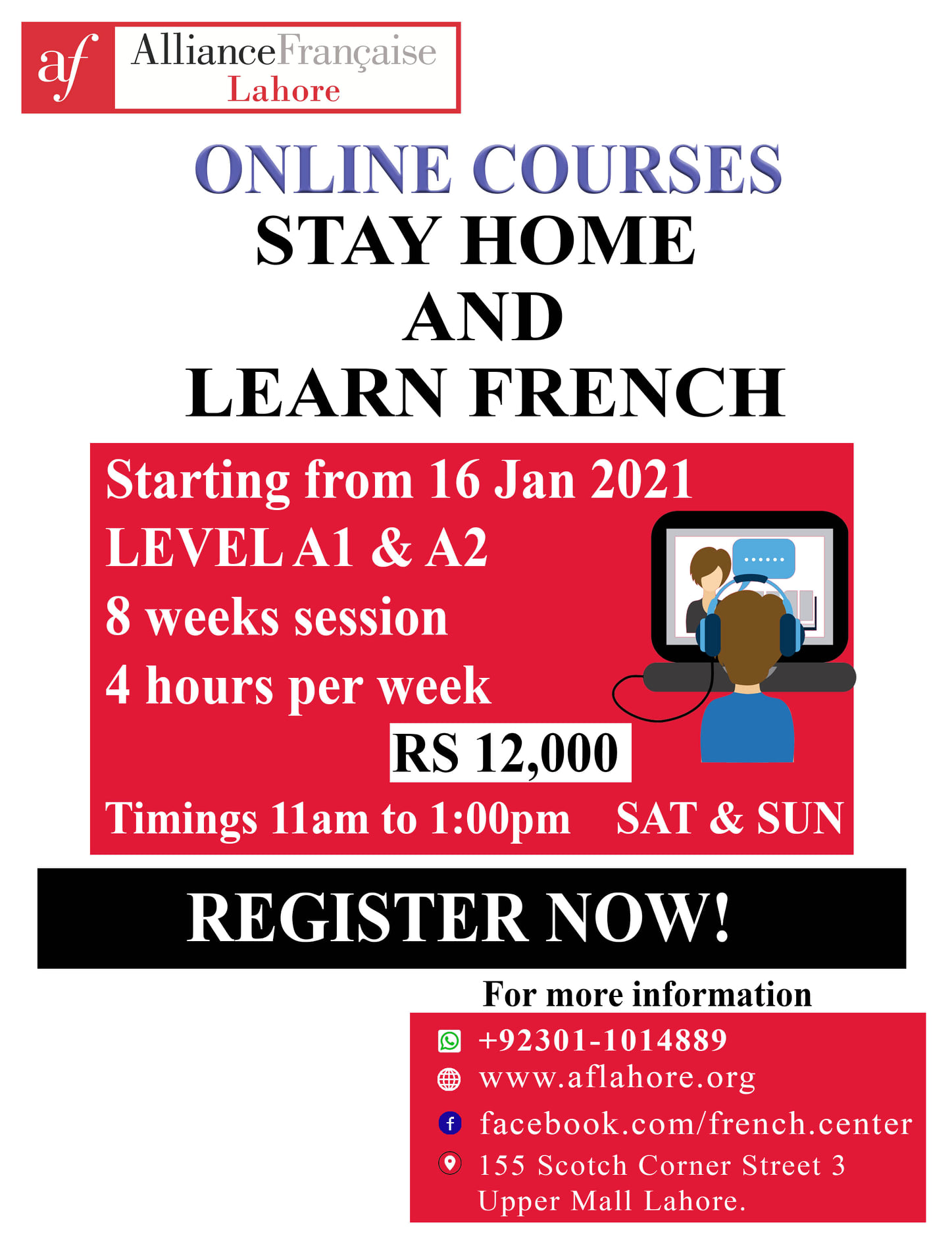 Learn French | AF Lahore | 16 Jan, 2021