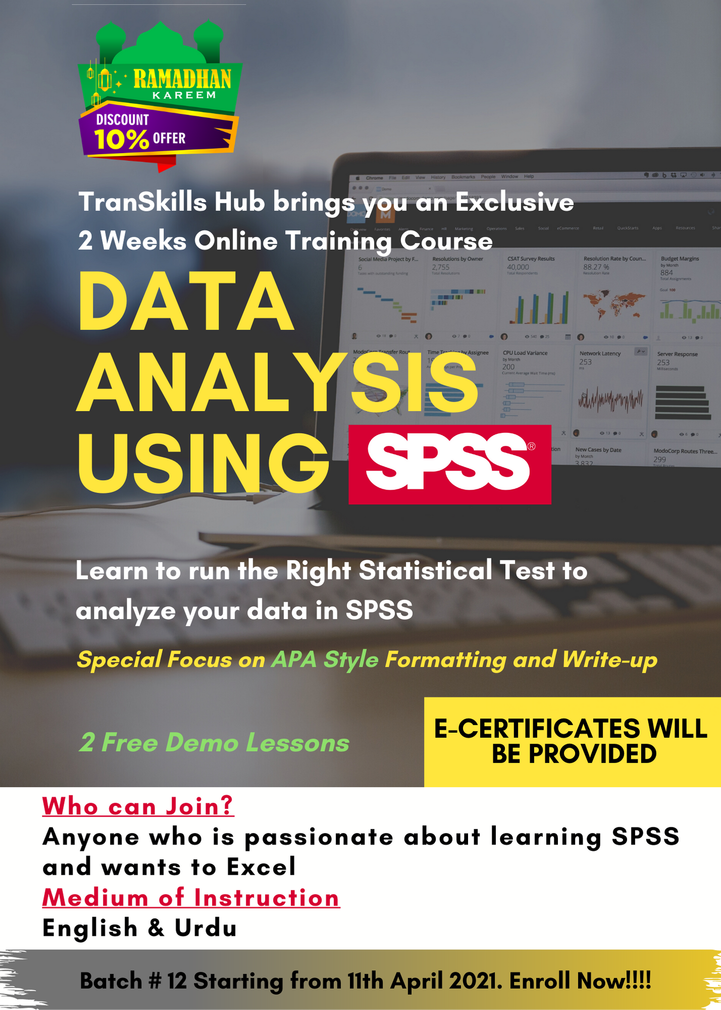 Level I SPSS COURSE: DATA ANALYSIS USING SPSS