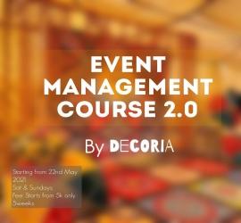 Event Management Course | DECORIA | 22-05-2021