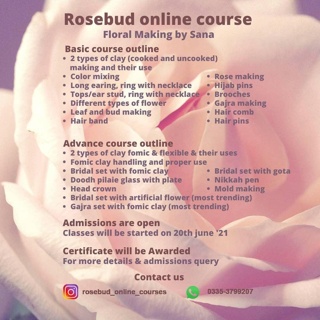 Floral Making Course   Rosebud   20-06-2021