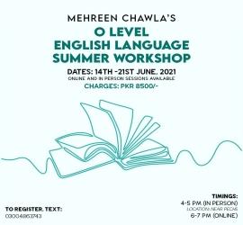 Olevel English Workshop | Mehreen Chawla | 14-06-2021