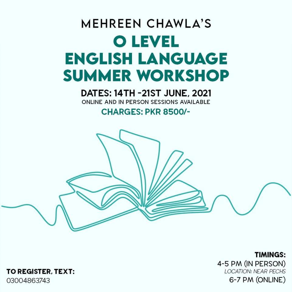 Olevel English Workshop   Mehreen Chawla   14-06-2021