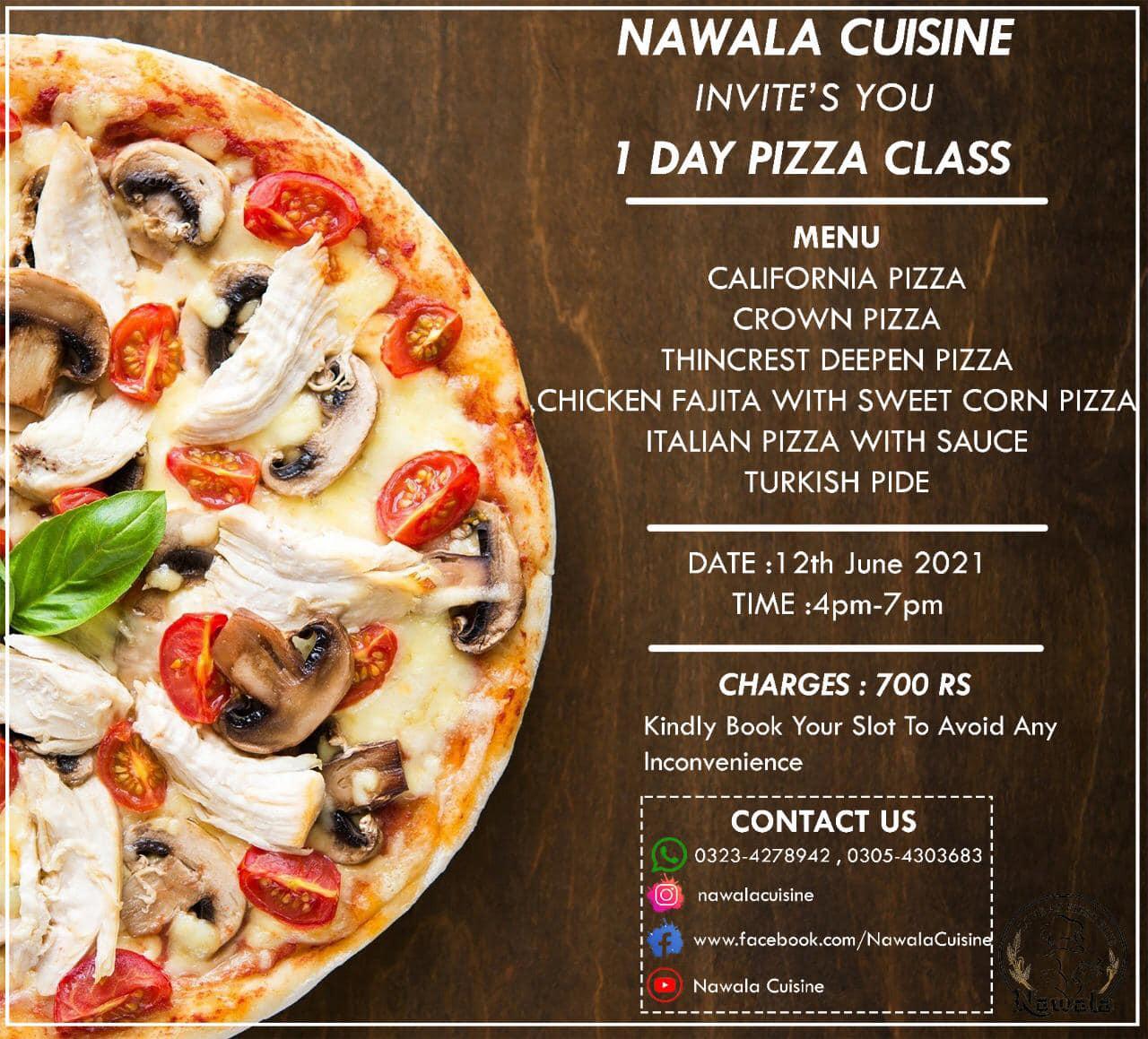 1 Day Pizza Class | Nawala Cuisine | 12-06-2021